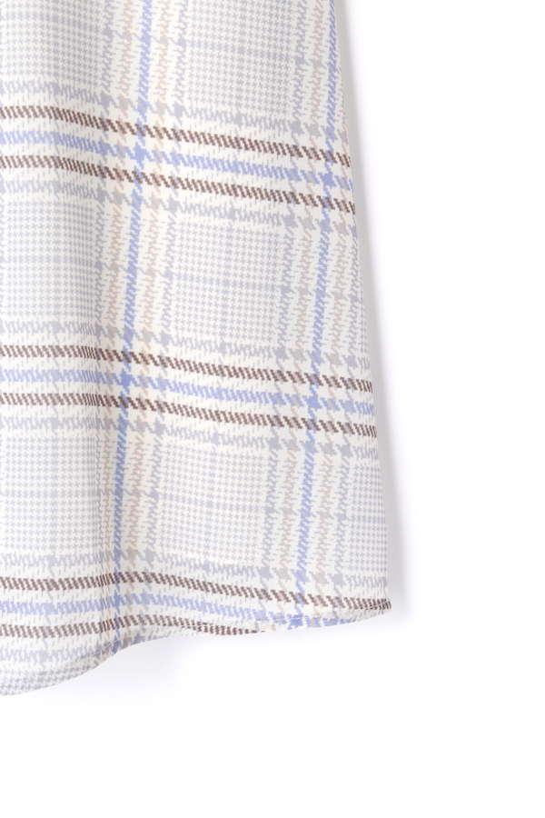 カラーグレンチェックリボンギャザースカート