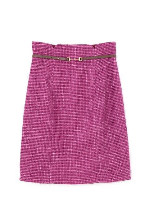 ベルト付きモールプリペラタイトスカート