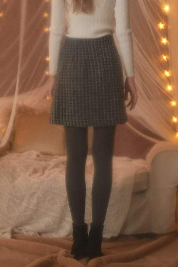 《EDIT COLOGNE》スカラップツィードスカート