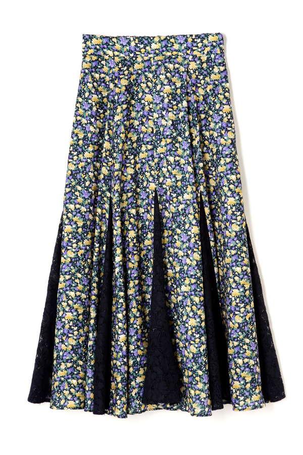 【CanCam1月号掲載】《EDIT COLOGNE》チュールドッキングミニフラワースカート