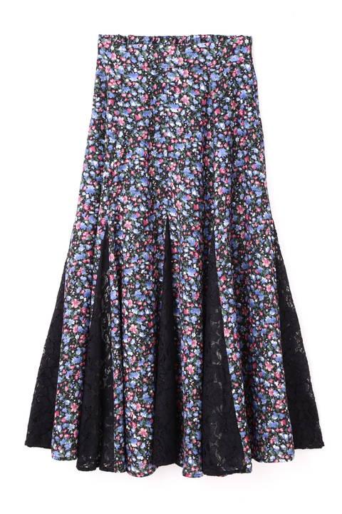 《EDIT COLOGNE》チュールドッキングミニフラワースカート