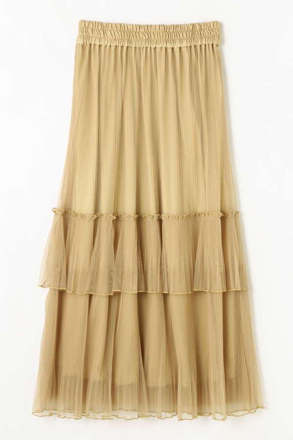 《EDIT COLOGNE》マキシチュールプリーツスカート