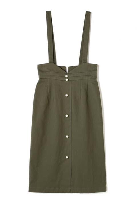 《EDIT COLOGNE》2WAYパールタイトジャンパースカート