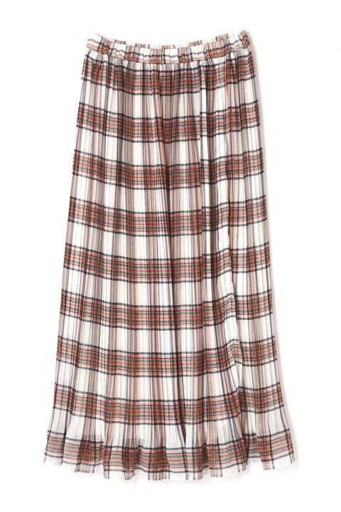 《EDIT COLOGNE》チェックプリーツスカート