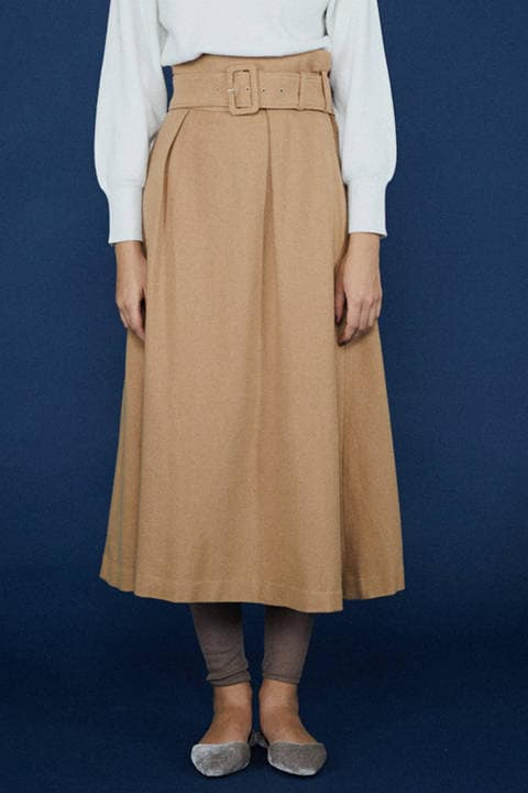 《BLANCHIC》カラーフラノフレアスカート