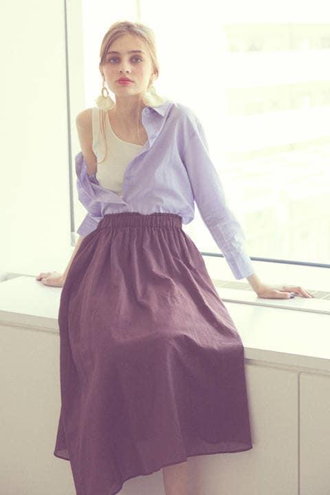 《BLANCHIC》シアーボイルマキシスカート