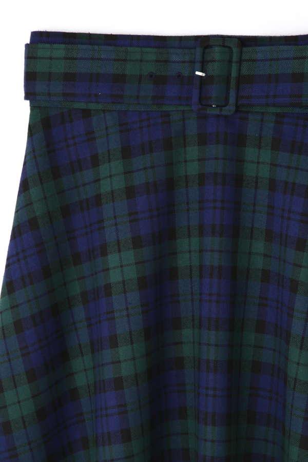 《BLANCHIC》チェックフレアスカート