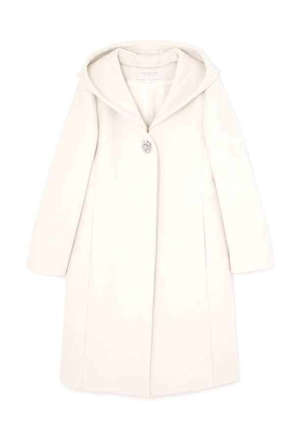 フード付Vカラーコート