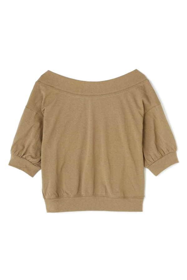 《BLANCHIC》ボートネックロゴTシャツ