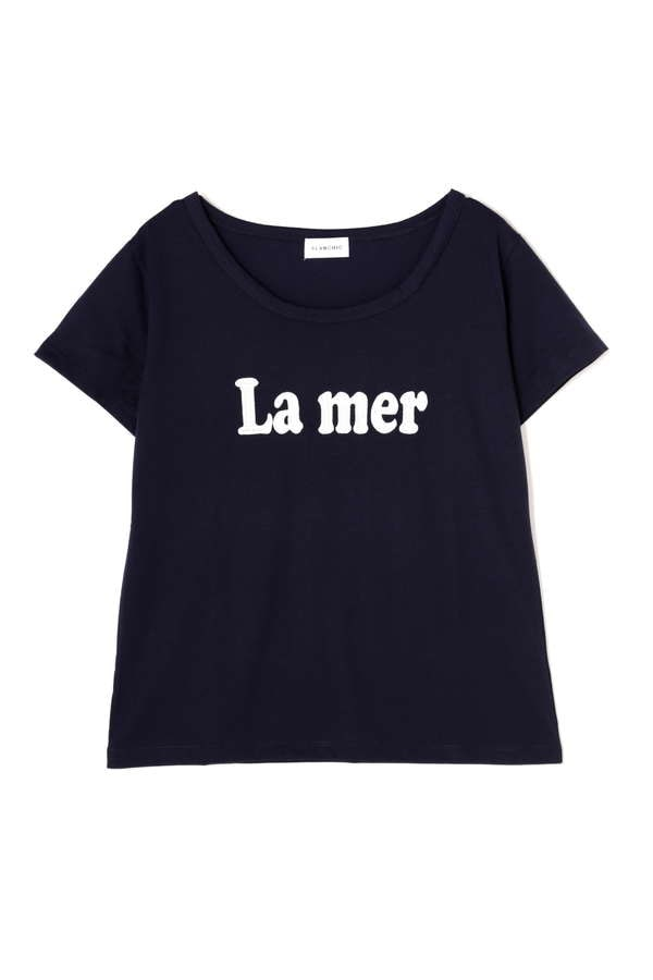 《BLANCHIC》ロゴ刺しゅうTシャツ