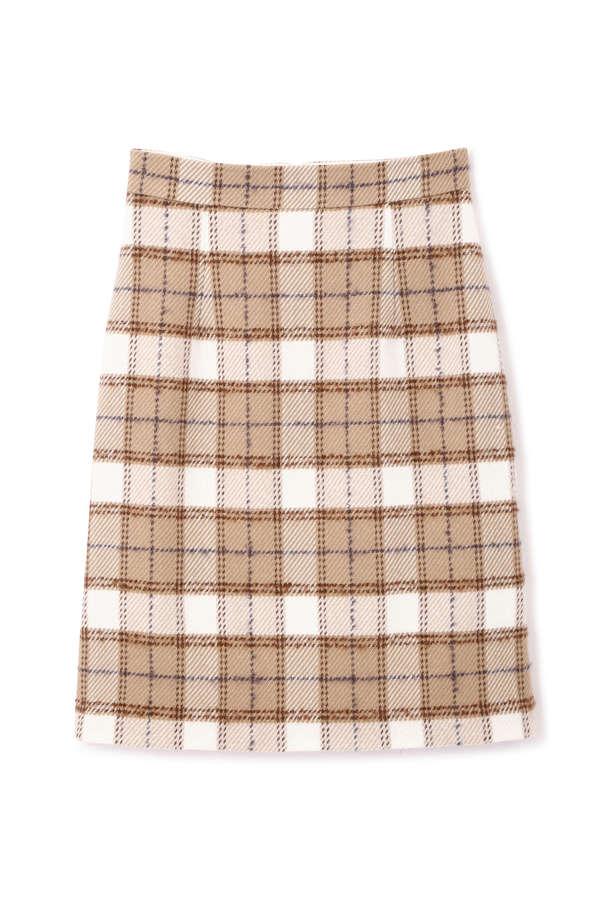 ループタータンチェックタイトスカート