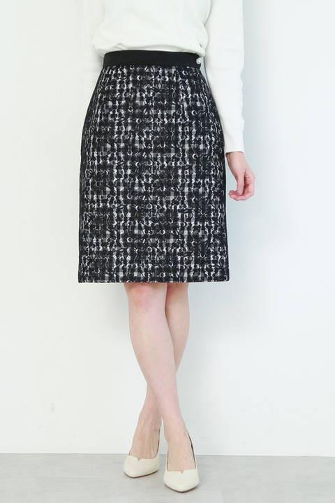 レースギンガムタイトスカート