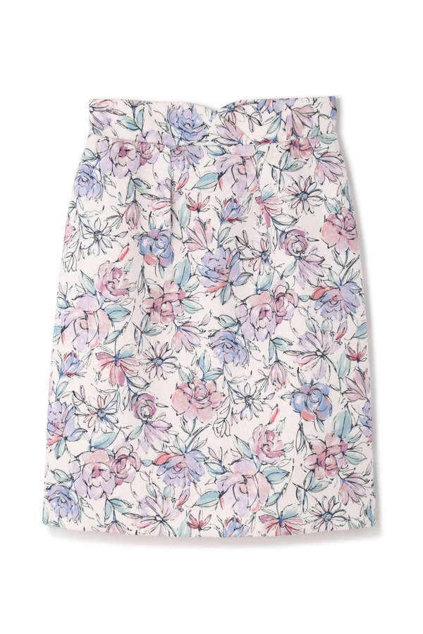 ドローイングフラワータイトスカート