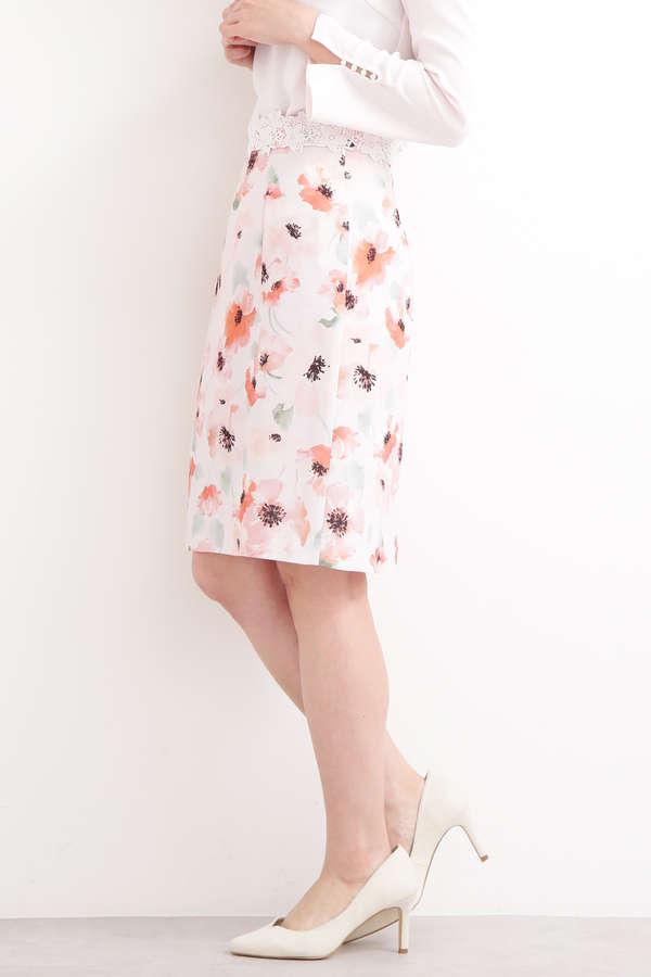 ブライトトーンフラワータイトスカート