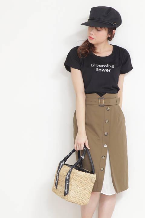 トレンチプリーツタイトスカート