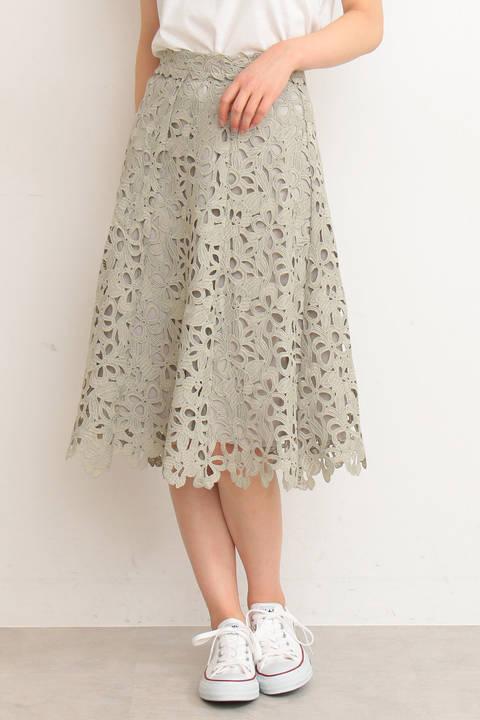 リボンケミカルフレアースカート
