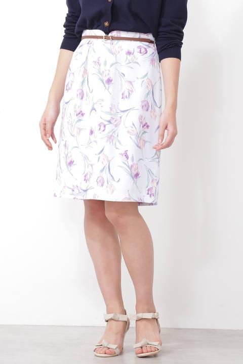 【先行予約3月中旬-下旬入荷予定】ガーデンチューリップタイトスカート