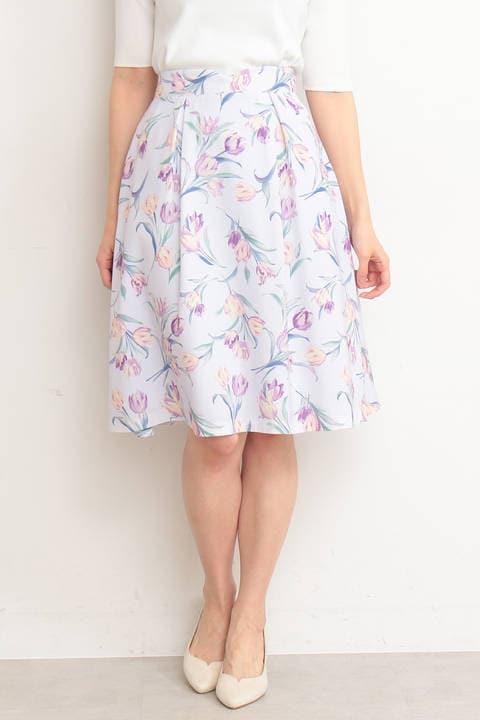 【先行予約3月中旬-下旬入荷予定】ガーデンチューリップフレアースカート