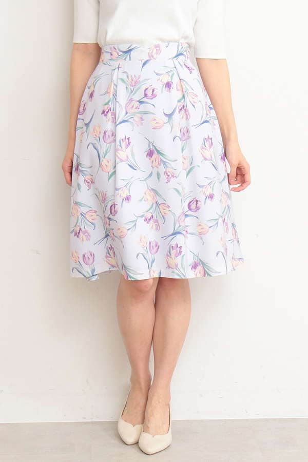 ガーデンチューリップフレアースカート