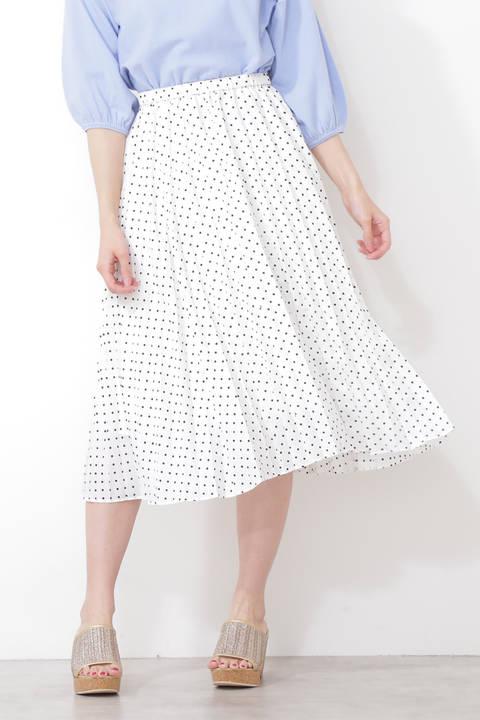 【先行予約3月中旬-下旬入荷予定】ミニドットプリーツスカート