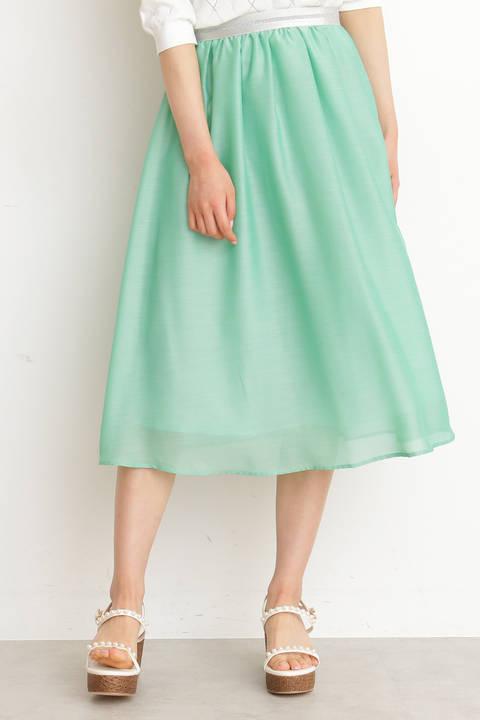 【先行予約3月下旬-4月上旬入荷予定】エアリーシャンブレーフレアースカート