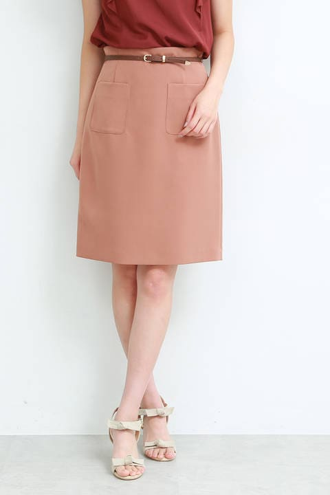 ポイントベルトポケットタイトスカート