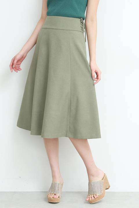 【美人百花6月号掲載】サイドレースアップスカート