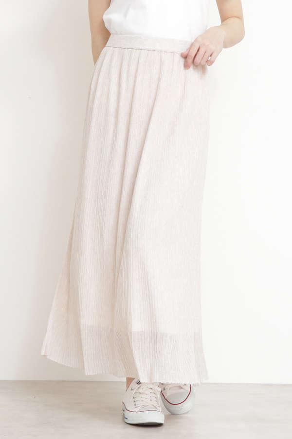 ミニプリーツシアーニットスカート