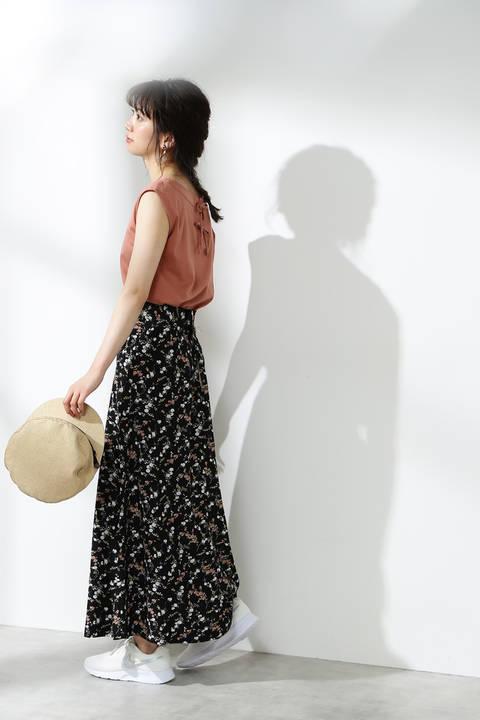【先行予約4月下旬-5月上旬入荷予定】小花マキシスカート