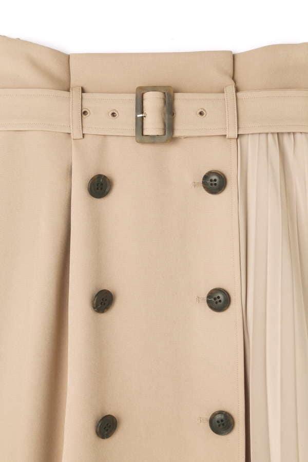 《BLANCHIC》サイドプリーツトレンチスカート