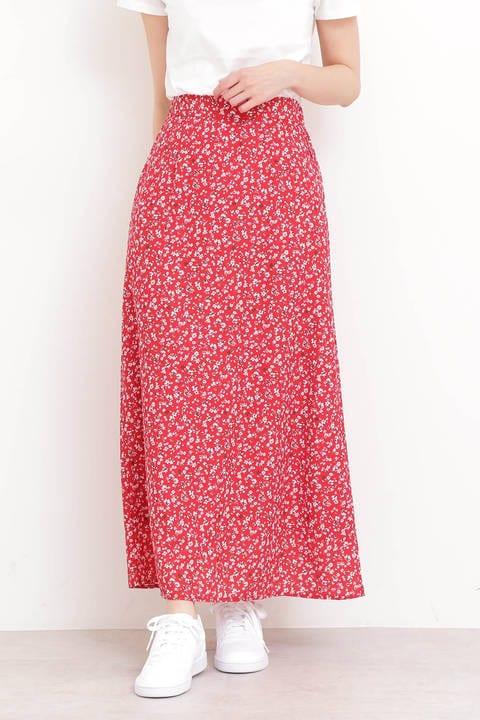 《BLANCHIC》小花柄フレアマキシスカート