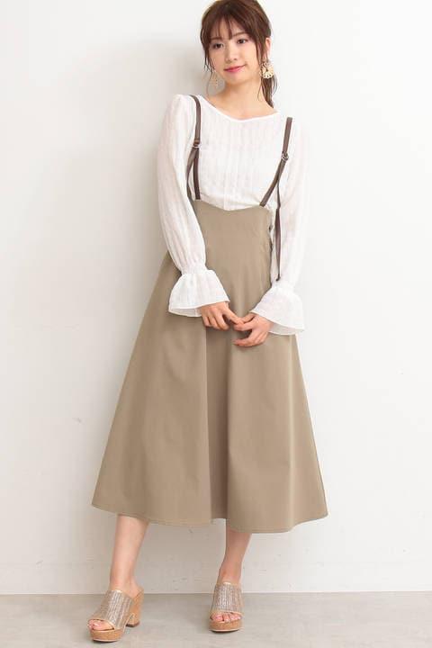 【先行予約3月中旬-下旬入荷予定】ストレッチツイルジャンパースカート