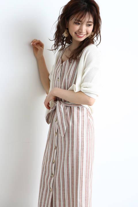 《EDIT COLOGNE》ストライプタイトジャンパースカート
