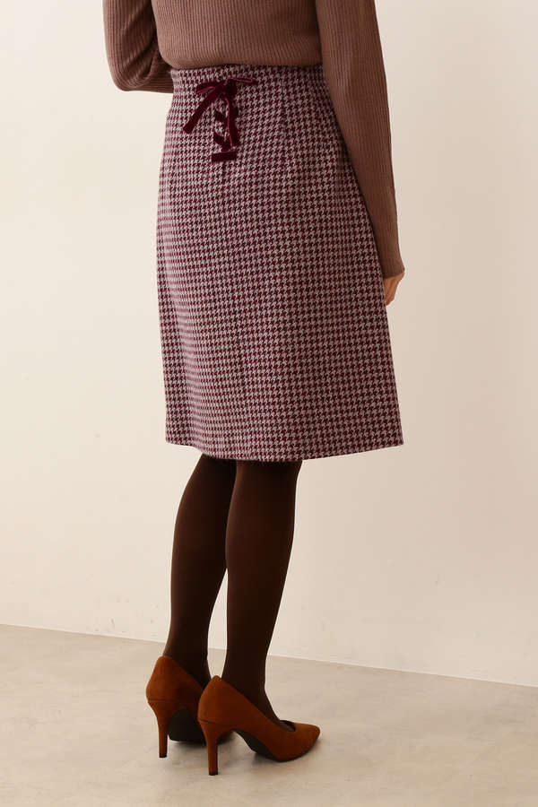 |CanCam 11月号掲載|バックリボン千鳥格子チェックタイトスカート