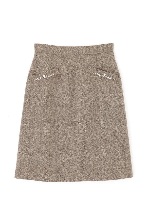 ラメツイード台形スカート