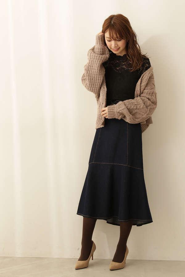 |美人百花 10月号掲載|マーメイドミモレデニムスカート
