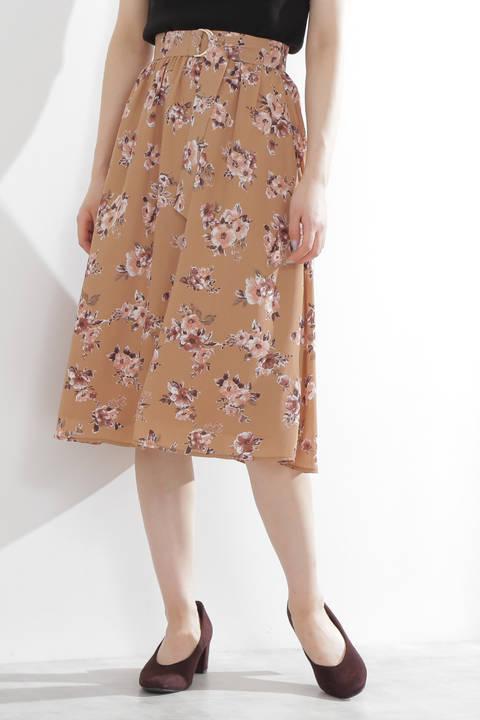 クレールフラワーギャザースカート