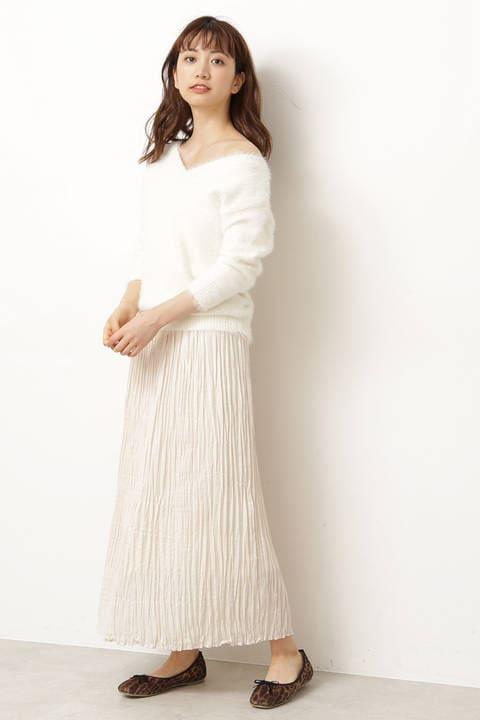 |美人百花 10月号掲載|ロングランダムプリーツスカート