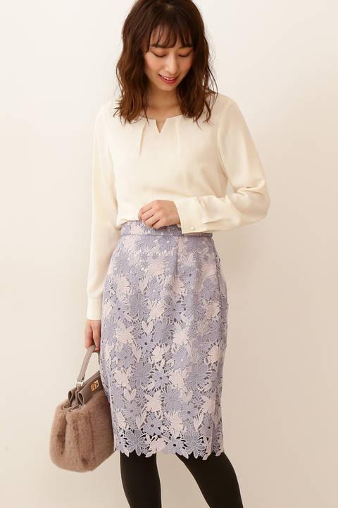 ミックストーンケミカルレースタイトスカート
