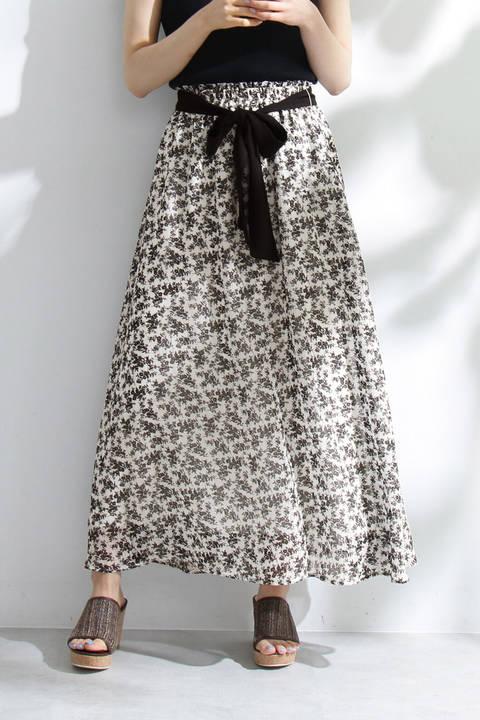 《EDIT COLOGNE》モノトーンシフォンスカート