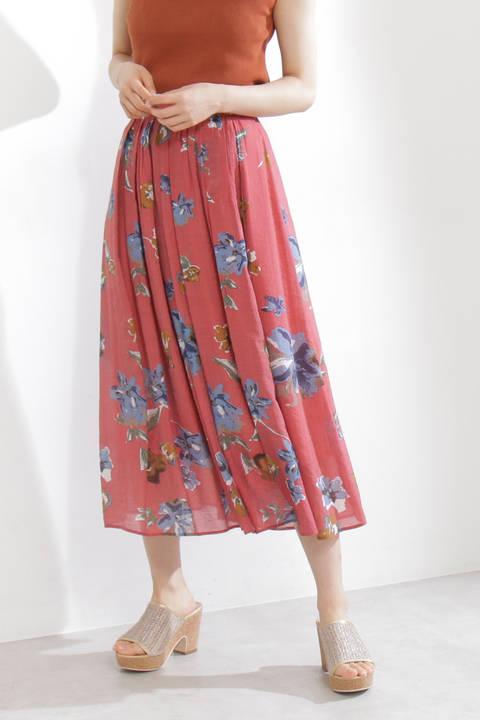 《EDIT COLOGNE》ブラードゥフラワーロングスカート