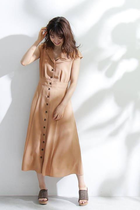 オープンカラーサマードレス