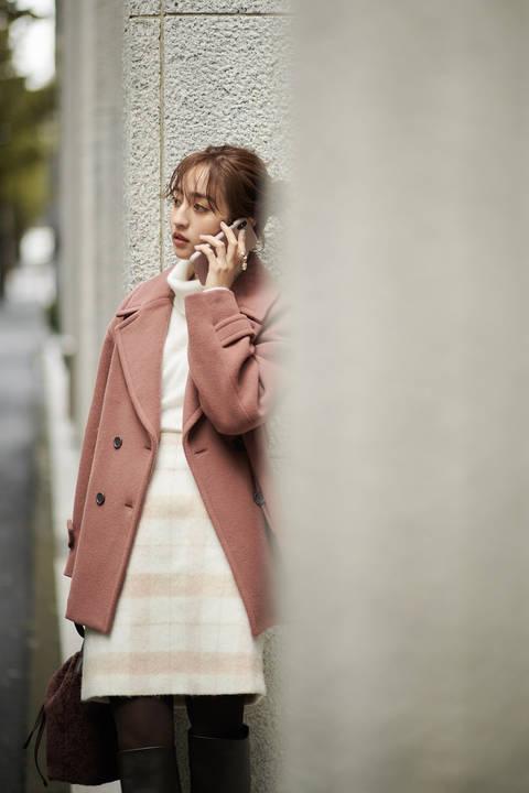 [堀田茜さん着用]Wモッサ Pコート