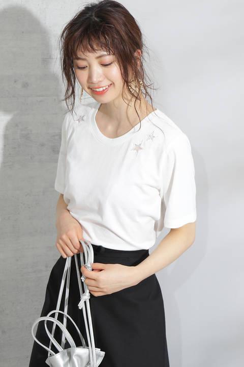 【先行予約6月下旬-7月上旬入荷予定】スター刺繍Tシャツ