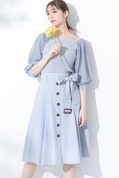 【先行予約2月中旬-2月下旬入荷予定】ボタンマーメイドスカート