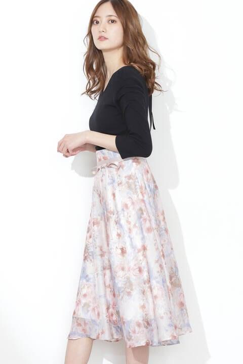 【先行予約5月上旬-5月中旬入荷予定】ドリーミースマッジブルームスカート