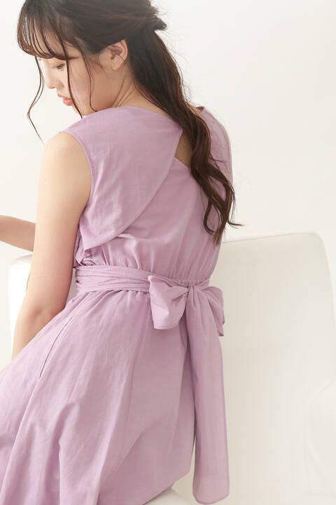 【堀田茜さん着用 美人百花6月号掲載商品】クロスラップワンピース