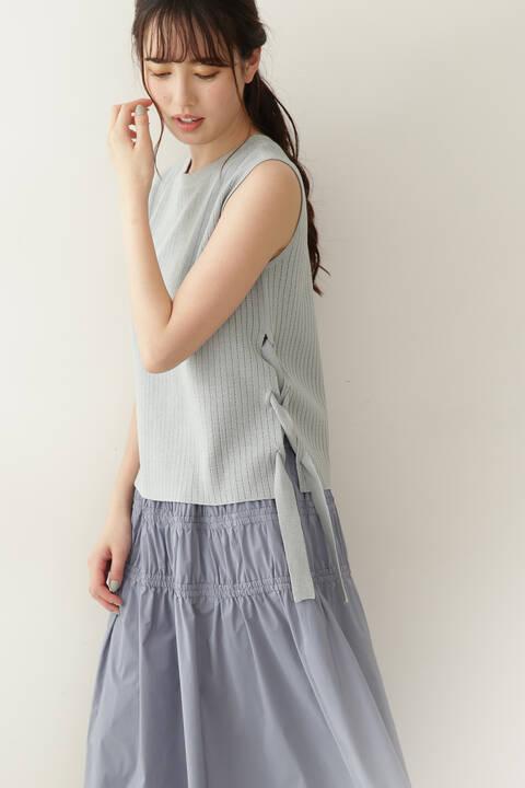 【堀田茜さん着用 美人百花6月号掲載商品】ハリヌキレースダウンニット