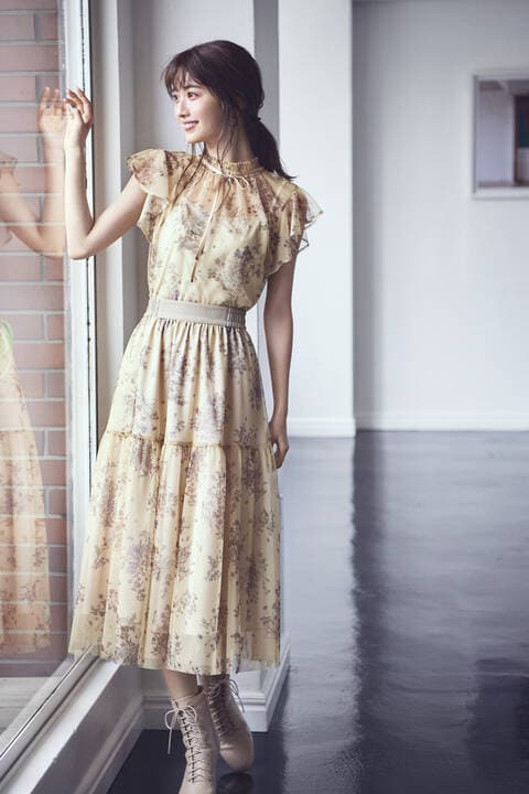 チュールボタニカルスカート