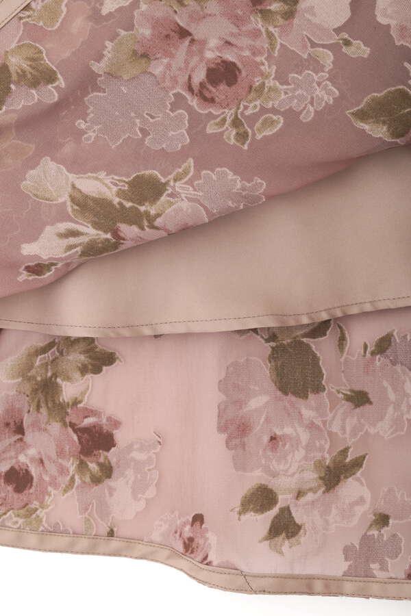 【田中 みな実さん着用 美人百花10月号掲載商品】ローズブーケオパールスカート